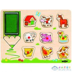 Farm Állatos Fa Nyomdaszett (Woodyland, 91184)