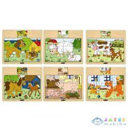 Háziállatos Fapuzzle (Woodyland, 93010W)