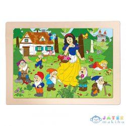 Hófehérke És A Hét Törpe 24Db-os Keretes Fa Puzzle - Woodyland (Woodyland, 91926)