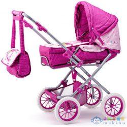 Unikornis Mintás Mózeskosaras Összecsukható Babakocsi Pink Színben - Woodyland (Woodyland, 91506W)